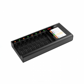 ISDT N8 18W 1.5A 8 Slots LCD AA/AAA Battery Quick Charger for LiIon LiHv Life NiMh Nicd Nizn