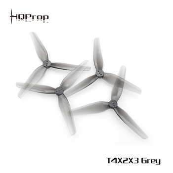 HQ Durable Prop T4X2X3 Grey (2CW+2CCW)-Poly Carbonate