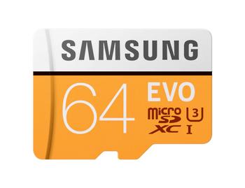 SAMSUNG EVO microSD Memory Card 64GB