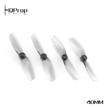 HQ Micro Whoop Prop 40MMX2 Grey (2CW+2CCW)-Poly Carbonate-1MM Shaft