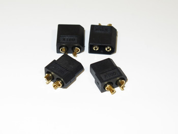 XT60 male/female connector - BLACK   (2 Pairs )