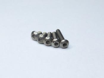 Titanium Hex Button Head M3 Screws