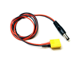 XT60 to DC5525 22awg Silicone cable, 60cm  for TS100
