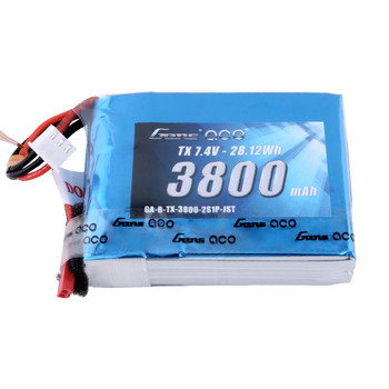 Gens ace 3800mAh 7.4V 2S1P TX Lipo Battery Pack with JST-SYP plug for the QX7