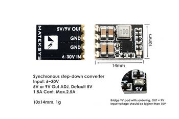Matek MICRO BEC 6-30V TO 5V/9V-ADJ (3pcs)