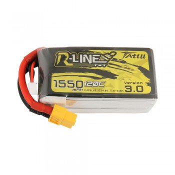 Tattu R-Line 3.0 1550mAh 14.8V 120C 4S Lipo Battery - XT60