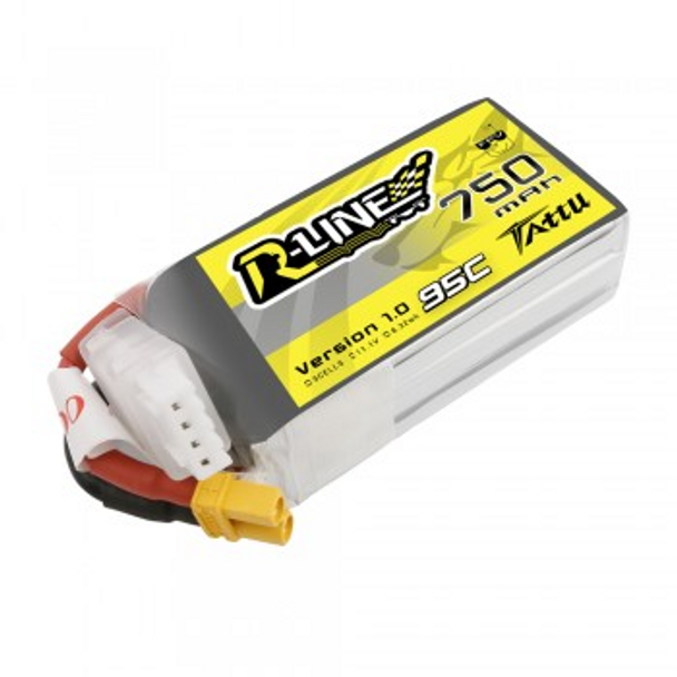 Tattu R-Line 750mAh 11.1V 95C 3S1P Lipo Battery Pack with XT30 Plug
