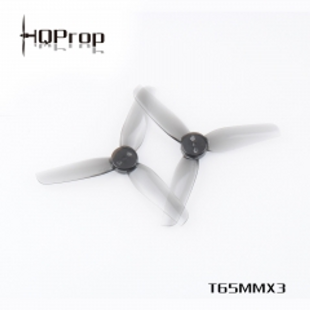 HQ Durable Prop T65MMX3 Light Grey (2CW+2CCW)-Poly Carbonate