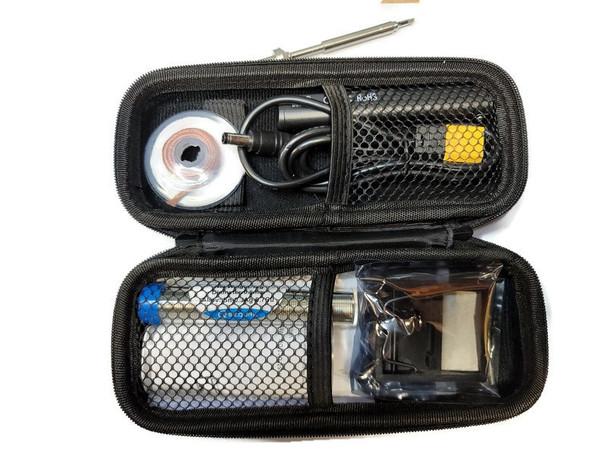 SEQURE  65W SQ-001 Mini Soldering Iron Digital OLED BLACK - BC2 Tip- CASE-SOLDER-WICK