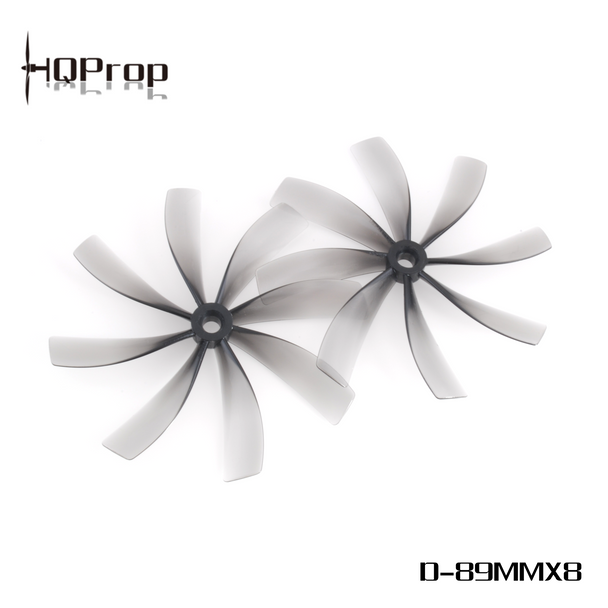 HQProp Duct-89MMX8 for Cinewhoop Grey (2CW+2CCW)-Poly Carbonate
