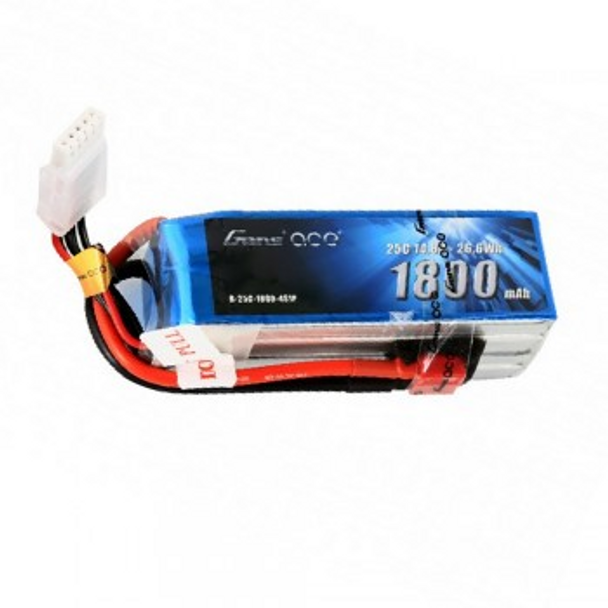 Gens Ace 1800mAh 14.8V 25C 4S1P Lipo Battery Pack with Deans Plug