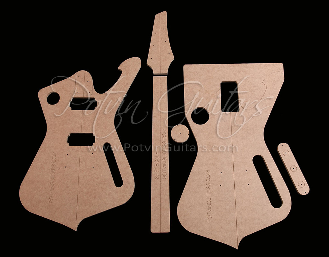 iceman style template set potvin guitars