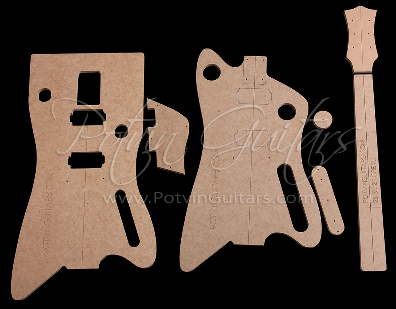 BB-Style bolt-on neck guitar template set