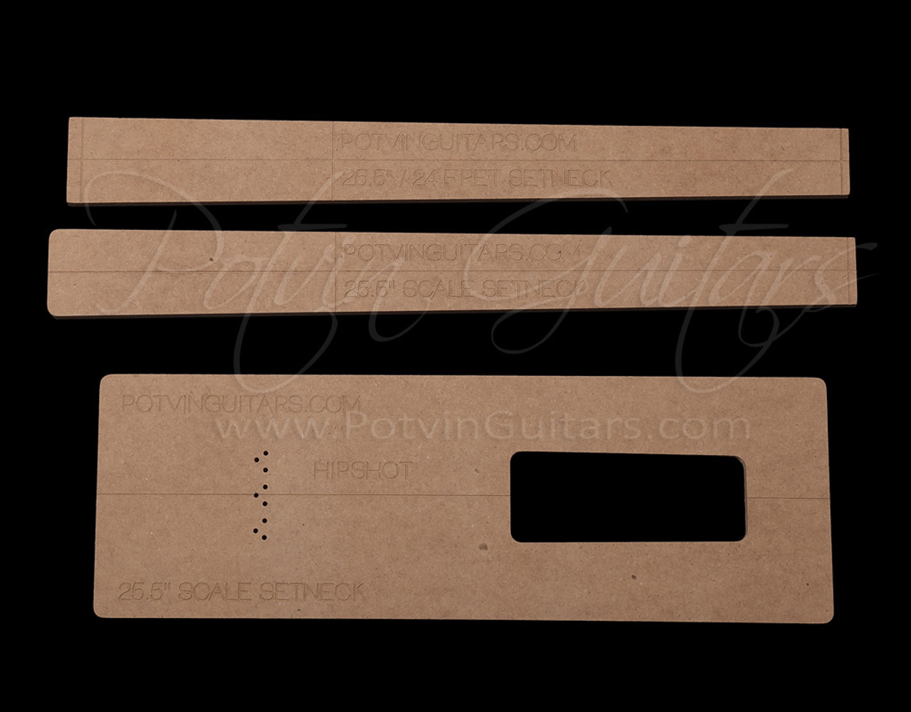 Set neck template kit 24 frets