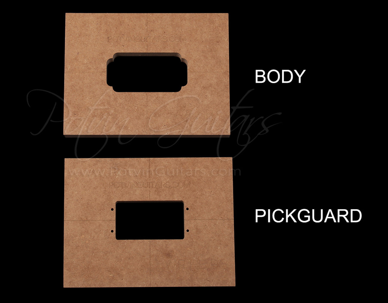 Wide Range Humbucker pickup templates