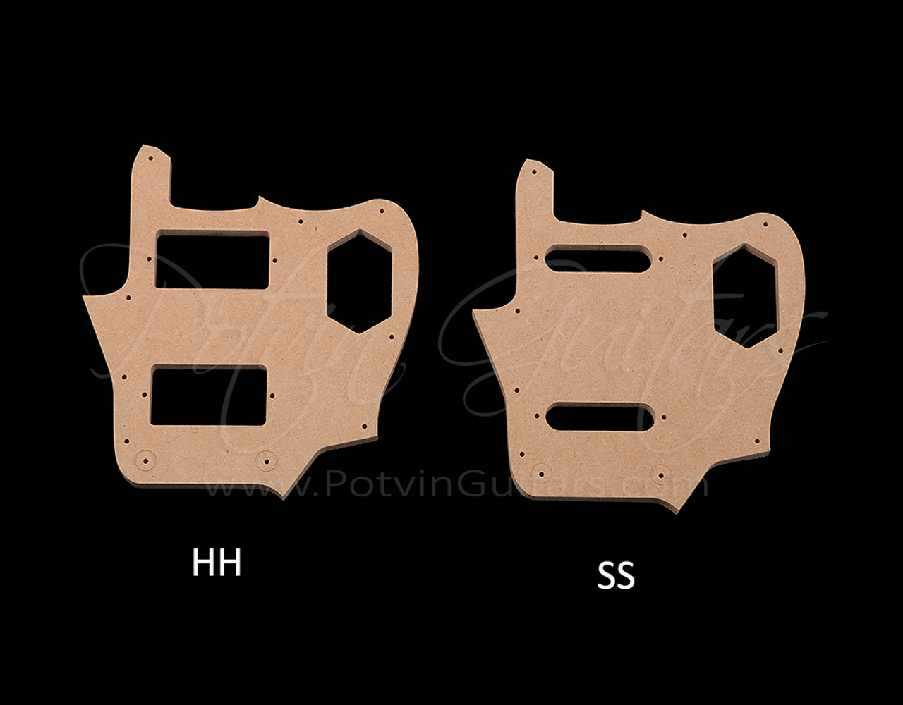 Jag-Style Pickguard Template Options