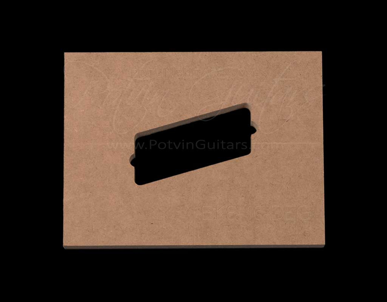 Bare Knuckle 8 String Humbucker 16 Degree Angle Pickup Template