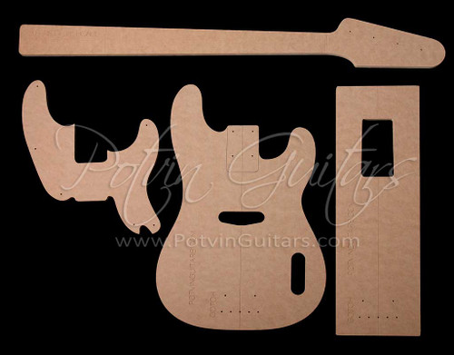 P-Style Bass Template Set (1951 Original)