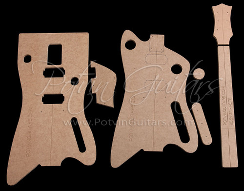 BB-Style bolt-on neck guitar template set