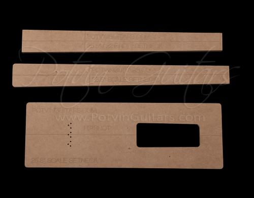 Set neck template kit 22 frets