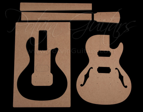 Parlor Electric Single Cut guitar template set