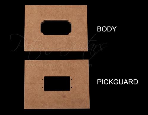 Wide Range Humbucker pickup templates