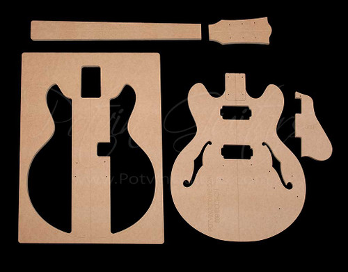 339-Style Bolt-on archtop guitar template set