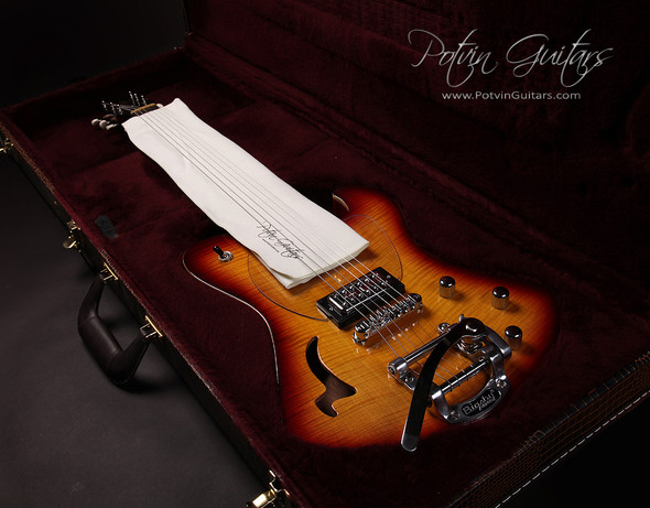Potvin Guitars polishing cloth can be used to protect frets from damage