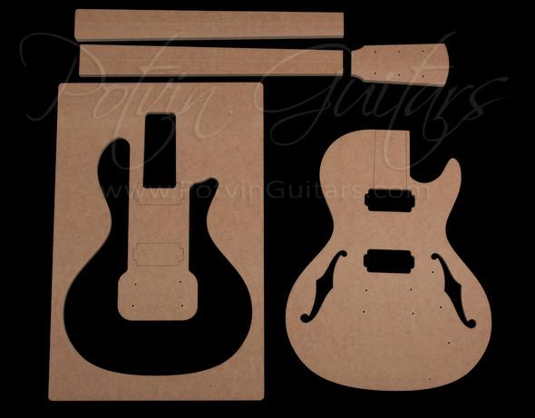 Parlor Electric Single Cut guitar template set