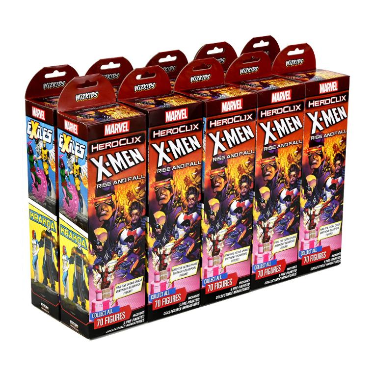 HeroClix X-Men Rise and Fall Booster Brick