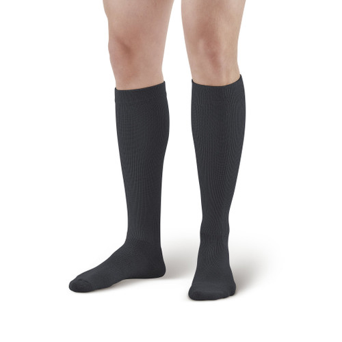 Our top-selling Ames Walker sock is now available in 15-20 mmHg moderate compression! Our Moderate Graduated Compression Coolmax® These 120 /125 /150 socks are ideal for casual wear, and are available in black, white, and khaki.
