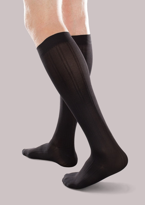 New EASE by Therafirm® unisex opaque knee highs are designed to help prevent or manage mild edema or moderate swelling, prevent or manage DVT, prevent or treat moderate varicose veins, and provide relief of heavy, tired, achy legs.