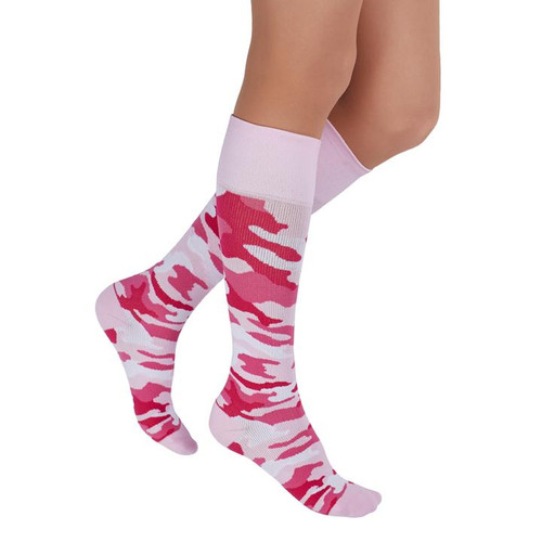 PINK- Quirky camo coming your way! Rejuva Health is adding fun patterns to the lineup this year. Decked out in camouflage print, these compression socks are perfect for flight, travel, athletic recovery, spider veins, pregnancy, and more. Featuring a hot pink option for standing out.
