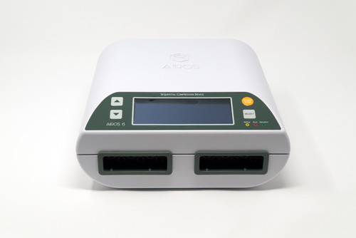 The AIROS 6 is an advanced device serving the Medicare population (billing code E0651). In addition to the primary gradient compression mode, the AIROS 6 features two Lymphedema Preparation Treatment (LPT) modes that can be used prior to main therapy. By order of a physician only.