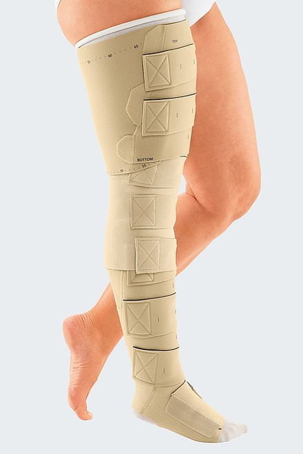 Adjustable to specific patient's needs Inelastic compression therapy supports patient control and engagenment Easy handling when donning and doffing