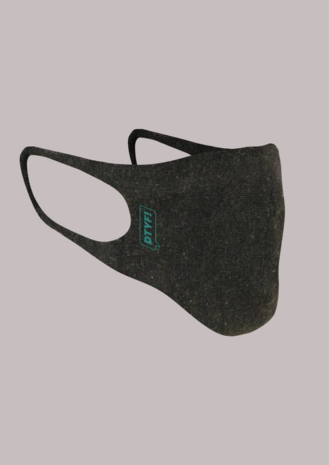DTYF! Masks have a cool and comfortable fit and help to keep wearers from touching their faces. Black  pictured