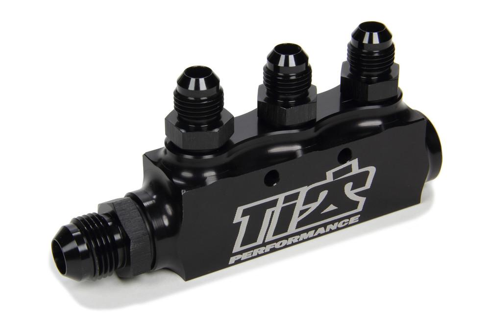 Fuel Return Block w/ Fittings TIP5500 SprintCar Ti22 Performance