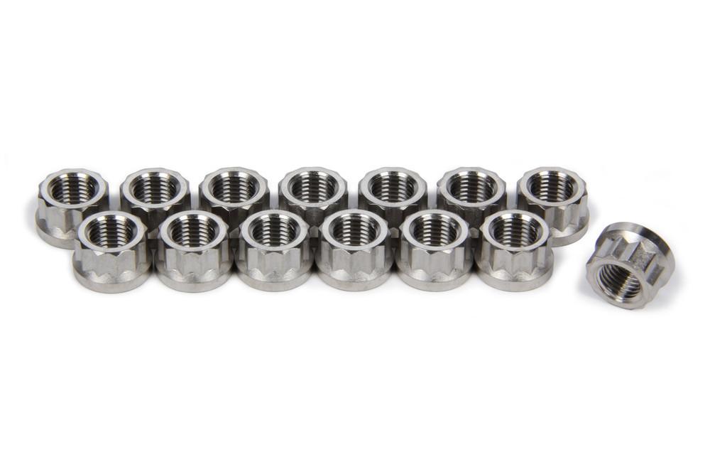 TIP1124 3/8-24 Flanged Header Nuts SprintCar Ti22 Performance