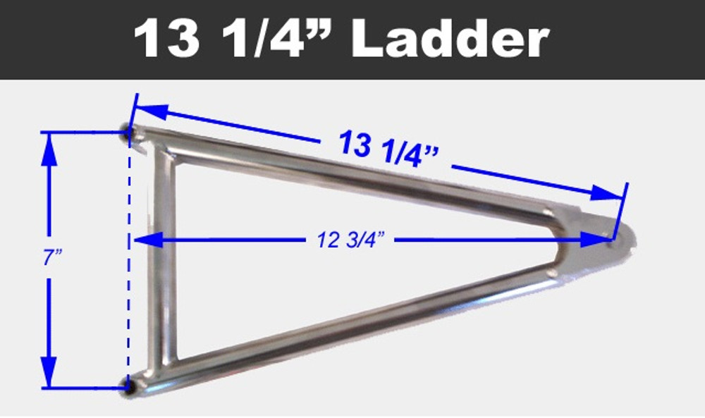 Jacobs Ladder 13-1/4 Titanium With Hardware TIP2431 SprintCar Ti22 Performance