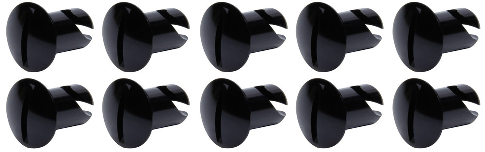 Oval Head Dzus Buttons .500 Long 10 Pack Black TIP8102 SprintCar Ti22 Performance