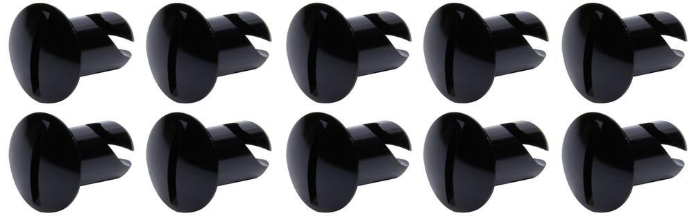 Oval Head Dzus Buttons .500 Long 10 Pack Black TIP8102 SprintCar Ti22 Performance