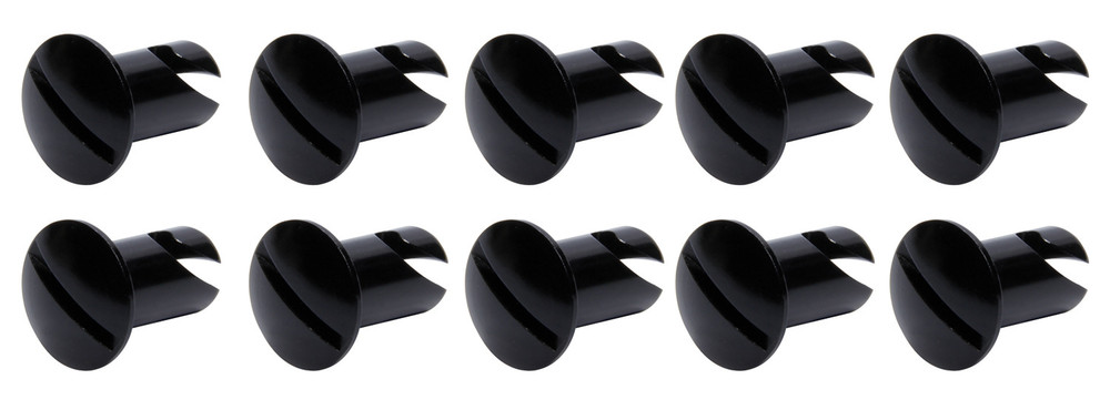 Oval Head Dzus Buttons .550 Long 10 Pack Black TIP8106 Sprint Car Ti22 Performance