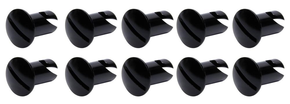 Oval Head Dzus Buttons .550 Long 10 Pack Black TIP8106 SprintCar Ti22 Performance