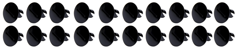 Large Head Dzus Buttons .500 Long 10 Pack Black TIP8110 SprintCar Ti22 Performance