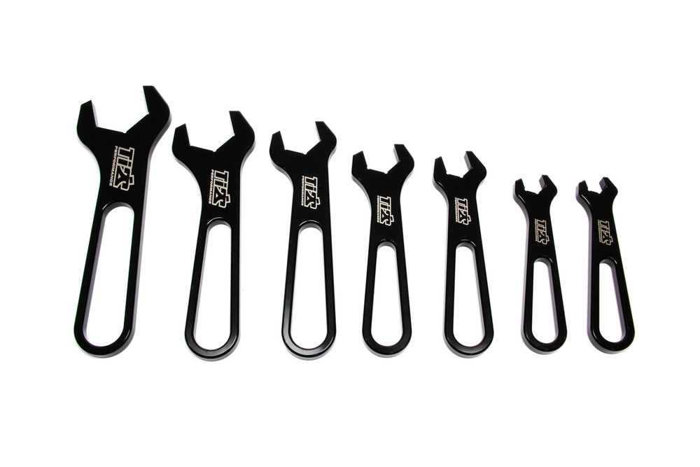 AN Wrench Set Aluminum -3 Through -16 Black TIP8530 SprintCar Ti22 Performance