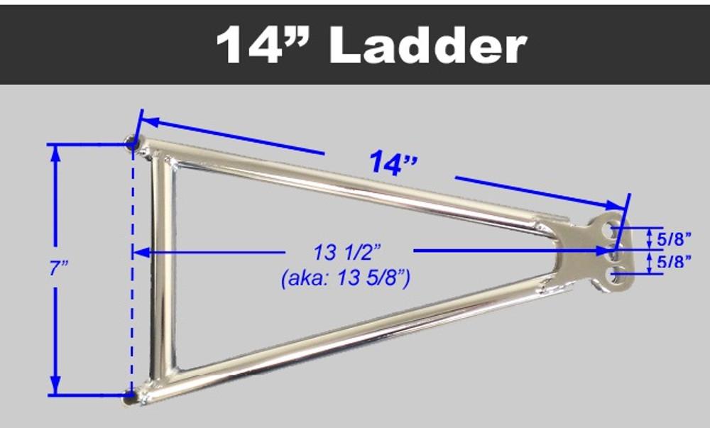 Jacobs Ladder 14 ADJ Chromoly w Ti Hardware TIP2448 SprintCar Ti22 Performance