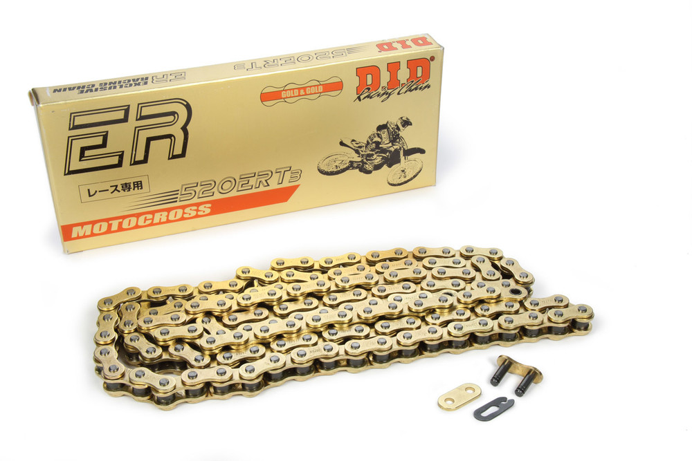 600 Mini Sprint Chain 520ERT2 Gold 130 Length TIP3870 Sprint Car Ti22 Performance
