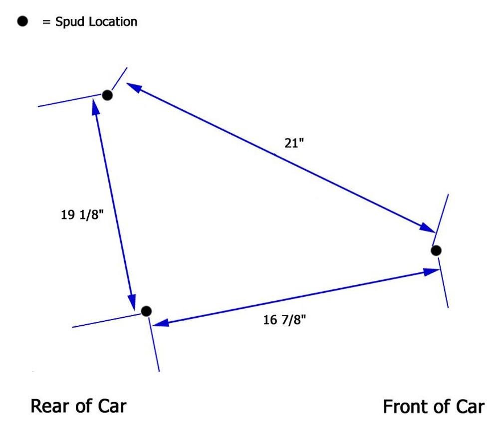 RH Nerf Bar 3-Point 4130 Black TIP7021 SprintCar Ti22 Performance