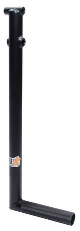 Chromoly Brake Pedal 1in Raised Rail Black TIP4001 Sprint Car Ti22 Performance