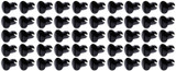 Oval Head Dzus Buttons .500 Long 50 Pack Black TIP8102-50 Sprint Car Ti22 Performance